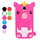 Schöne Cartoon-Schwein mit Krone Soft Case für Samsung Galaxy i9500 S4 (verschiedene Farben)