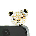 Gold Plated Alloy Zircon Bear Pattern Anti-dust Plug(Random Colors)