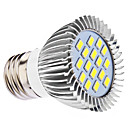 DAIWL E27 5W 16x5630SMD 400-450LM 6000-6500K Natural White Light LED Spot Bulb (110/220V)