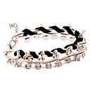 Rope Woven Diamond Rivet Bracelet