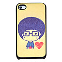 Cute Boy Heart Pattern Hard Case for iPhone 4/4S