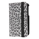 Rotating Leopard Pattern PU Leather Case with Stand for Samsung Galaxy Tab 3 P3200