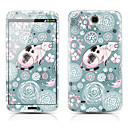 Fat Cat Pattern Front and Back Protector Stickers for Samsung Galaxy Mega 6.3 I9200