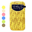 Gold stripes Screen Visible PU Leather Full Body Case for Samsung Galaxy S4 I9500