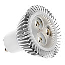 5W GU10 LED Spotlight MR16 3 High Power LED 320 lm Warm White AC 100-240 V