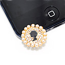 Beauty Portrait Pearl Anti-dust Plug for iPhone 5