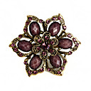 Women's  Exquisite Flower Rhinestone Brooch(Random Color)
