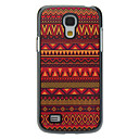 Red Ethnic Fusion Pattern Aluminum Hard Case for Samsung Galaxy S4 mini I9190
