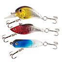 Floating/Sinking Mini Multicolor Luminous Plastic Fishing Lure Packs (3pcs)