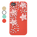 DIY Four Flowers Ornament Plastic Back Case for iPhone 5/5S(Assorted Color)
