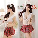 Сексуальная школьница клетчатая юбка Глубокий V дева белье