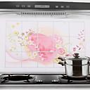 75x45cm Heart Pattern Oil-Proof Water-Proof Kitchen Wall Sticker