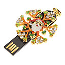 Metal Christmas Snow Flower Model USB 4GB