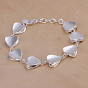 Stylish 20cm Women's Silver Copper Bracelets