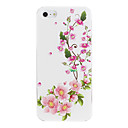 Pink Blooming Plum Pattern PC Hard Case for iPhone 5/5S