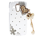 Rhinestone Transparent Pattern Hard Back Case with Pearl Tower for Samsung Galaxy S3 Mini I8190
