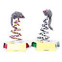 Мех мыши Leopard Весна Игрушка для домашних животных Кошки (разных цветов)