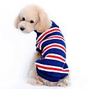 Dog Sweater Blue Dog Clothes Winter Stripe