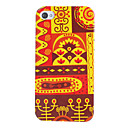 Red Tone Ethnic Style Pattern Hard Case for iPhone 4/4S