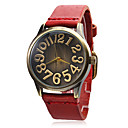 Women's Leather Band Analog Quartz Wrist Watch (Assorted Band Colors)