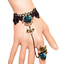 Европейский Vintage готическом стиле кружева кольцо браслет для женщин