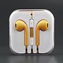 Стильный расчесывания Золотой Объем управляема в наушники-вкладыши ж / микрофон для iPhone 6 iPhone 6 Plus (120см)