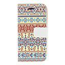 Vintage Красочный шаблон полосы PU Полный чехол для тела Для iPhone 5 / 5S