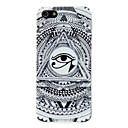 Black and White Triangular Eye Pattern  PC Hard Case for iPhone 5/5S