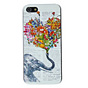 Elephant Conjuring Flowers Pattern PC Hard Case for iPhone 5/5S