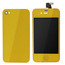 Yellow ЖК-экран сенсорный дигитайзер Ассамблеи с задней обложки для iPhone 4S
