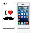 Я люблю жесткий чехол усы 3-Pack Защитные пленки для iPhone 5 / 5S