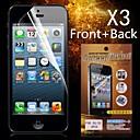 Защитные HD Передняя Задняя протектор экрана для iPhone 5 / 5S (3шт)