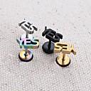 Lureme®316L Surgical Titanium Steel letter yes Single Stud earrings (Random Color)