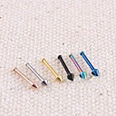"Lureme®316L Surgical Titanium Steel Ultrafine Pointed Cone Single Stud Earrings (Random Color)"""