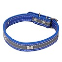 Stylish Bone Design Plastic PU Leather Collars for Dogs