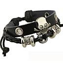 The Beaded Skull Leather Bracelet Christmas Gifts