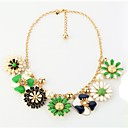 Golden Statement Necklaces Party Jewelry