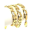 Massive  24K Yellow Gold Filled Men's Necklace Solid Curb Link Chain 60CM (24 Inches) 12MM 102g