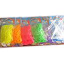 Loom Bands Fluorescent DIY Rubber Band(600 Pcs Bands、24 S Clips、A Crochet Hooks)