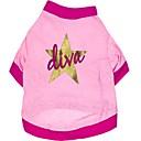 Dog Shirt / T-Shirt Pink Spring/Fall Stars / Animal Wedding / Cosplay