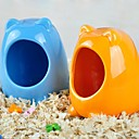 Cool Ceramic Cat's Head Shape Pure Color Hutch for Hamsters (Assorted Colors)