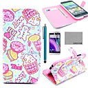 COCO FUN® Lovely Heart Cake Pattern PU Leather Full Body Case with Screen Protector, Stylus and Stand for HTC One M8