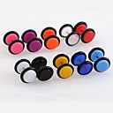 Lureme®316L Surgical Titanium Steel 8mm Candy Color Acrylic Single Stud Earrings (Random Color)
