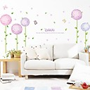 Flower And Balloon Design Fashion Plastic Wall Stickers (1pcs)