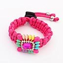 Мода браслет сплетенный флуоресцентных цветов