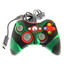 Проводной Dual Shock контроллера с силиконовым Обложка кожи для Xbox 360