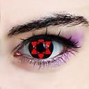 Naruto Sasuke Uchiha Hexagram Sharingan Cosplay Contact Lenses(1 Pair)