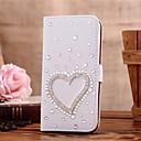Алмазный Heart Shaped Кожа PU Полный Дело Корпус с подставкой и слот для карт Samsung Galaxy Note 2 N7100