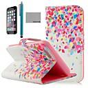 COCO весело красочные точек шаблон PU кожаный чехол для всего тела для iPhone 6 6G 4,7 с экрана хранитель, и ПОВ Stylus
