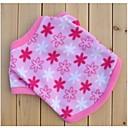 Розовые Руна Цветы Зимние Рубашки для домашних животных собак (различных размеров)